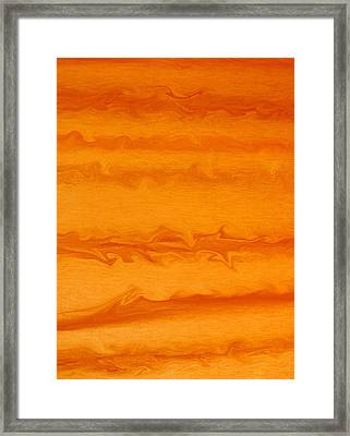 Orange Waves Framed Print by James Mikkelsen