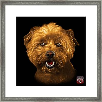 Framed Print featuring the mixed media Orange West Highland Terrier Mix - 8674 - Bb by James Ahn
