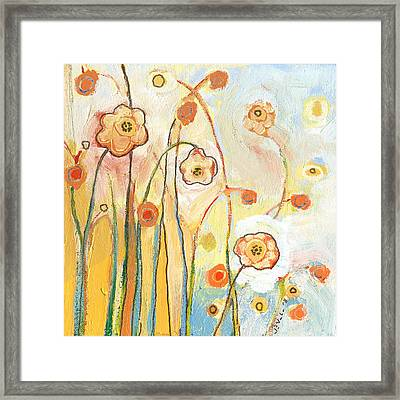 Orange Whimsy Framed Print by Jennifer Lommers