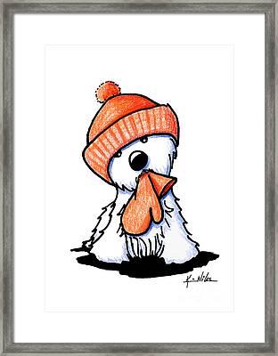 Orange Winter Westie Framed Print by Kim Niles