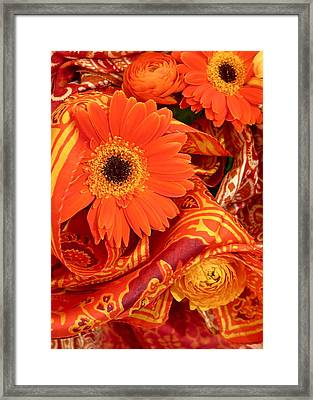Orange Wrappings Framed Print by Bonnie See
