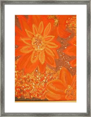 Orange You Glad You Like Orange Framed Print by Anne-Elizabeth Whiteway