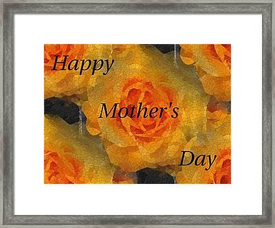 Orange You Lovely Mothers Day Framed Print by Tim Allen