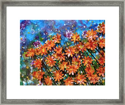 Amazing Orange Framed Print