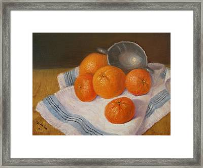 Oranges And Tangerines Framed Print by Donelli  DiMaria