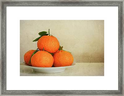 Oranges Framed Print by Annfrau