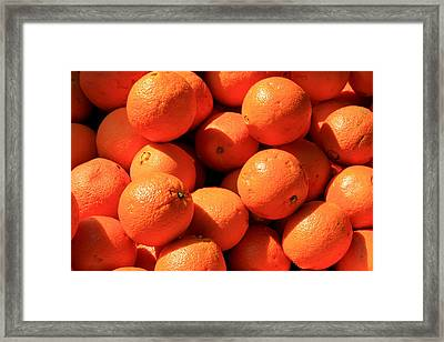 Framed Print featuring the photograph Oranges by David Dunham