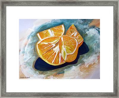 Oranges Framed Print by Elizabeth Kendall