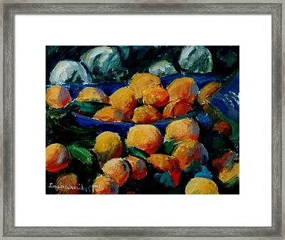 Oranges Framed Print by George Siaba
