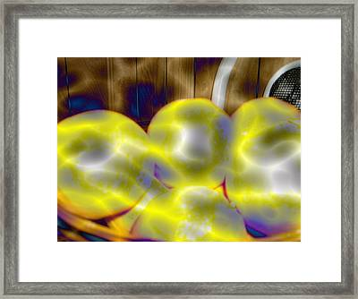 Framed Print featuring the photograph Oranges In A Basket by Skyler Tipton