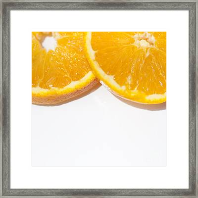 Oranges On White Background Framed Print by Jorgo Photography - Wall Art Gallery
