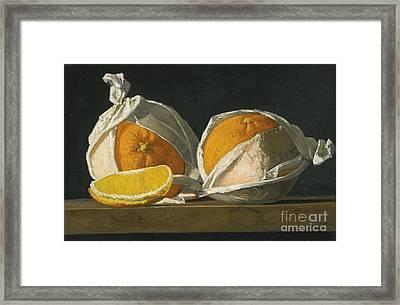 Oranges Wrapped Framed Print