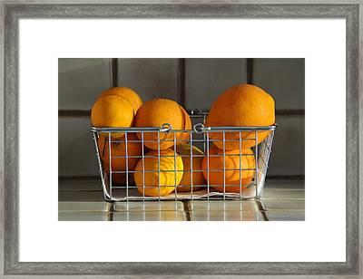Orangey Framed Print by Dan Holm