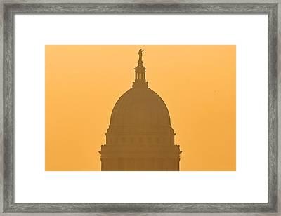 Orangish Glow Framed Print by Todd Klassy