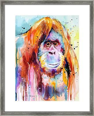 Orangutan  Framed Print by Slavi Aladjova
