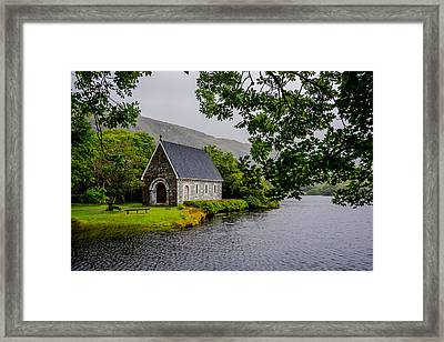 Oratory In Gougane Barra National Park In Ireland Framed Print by Andreas Berthold