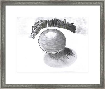 Orb Landing Framed Print