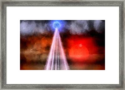 Orb Of Light Framed Print by Raphael Terra