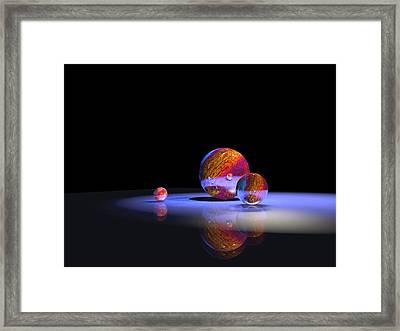 Orbs 1 Framed Print