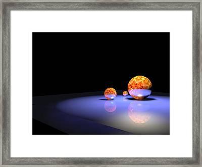 Orbs 2 Framed Print