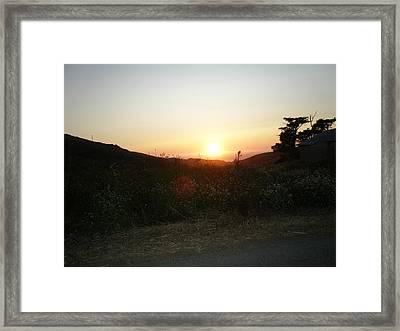 Orbs At Sunset Framed Print
