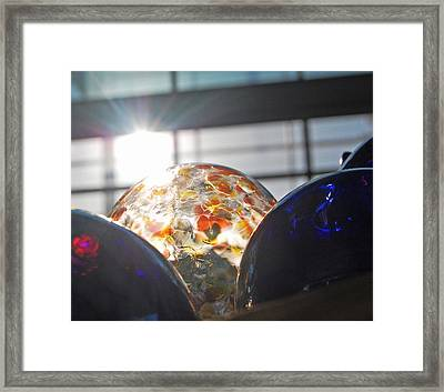 Orbs Of Light And Dark Framed Print by Jean Booth