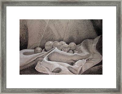 Orbs Framed Print by Rebecca Tacosa Gray