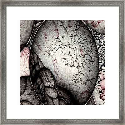 Framed Print featuring the drawing Orbs Seventh Detail by Jack Dillhunt