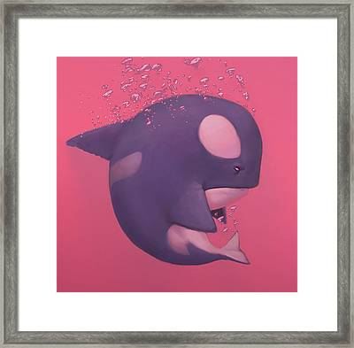 Orca Framed Print by Adam Ford