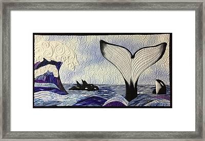 Orcas At Play Framed Print