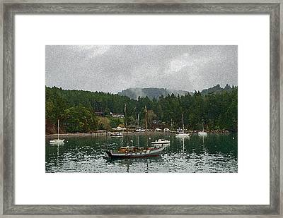 Orcas Island Digital Enhancement Framed Print