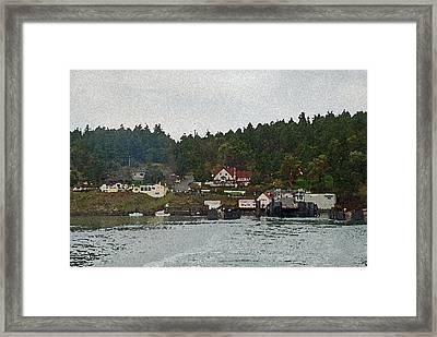 Orcas Island Dock Framed Print by Carol  Eliassen