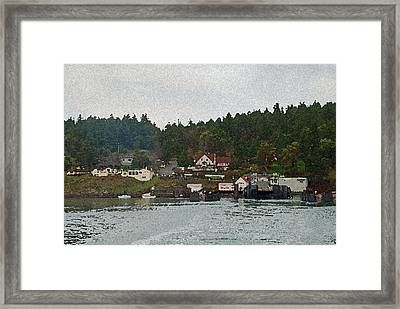Orcas Island Dock Digital Framed Print