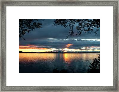 Orcas Island Sunset Framed Print