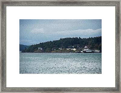 Orcas Island View  Framed Print by Carol  Eliassen