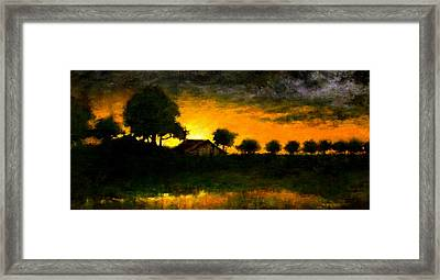 Orchard Sundown Framed Print