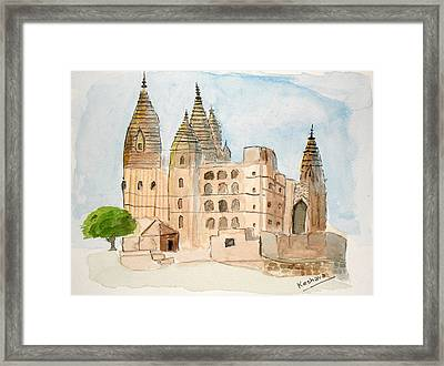 Orchha Temple Framed Print