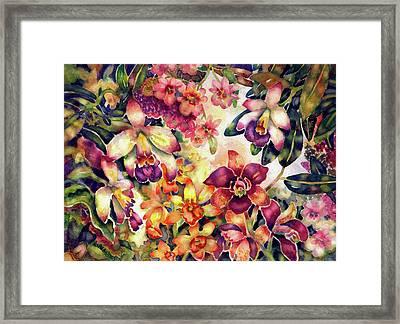 Orchid Garden II Framed Print