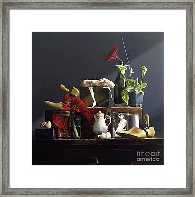 Orchid Framed Print by Larry Preston