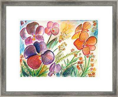 Orchid No. 12 Framed Print by Julie Richman