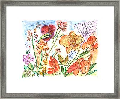Orchid No. 9 Framed Print by Julie Richman