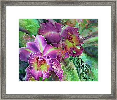 Orchid Series 10 Framed Print by Deborah Younglao