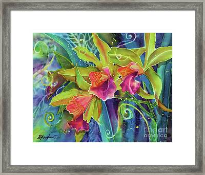 Orchid Series 14 Framed Print by Deborah Younglao