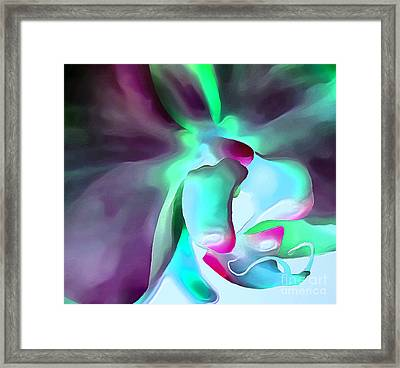 Orchid Splash Framed Print by Krissy Katsimbras