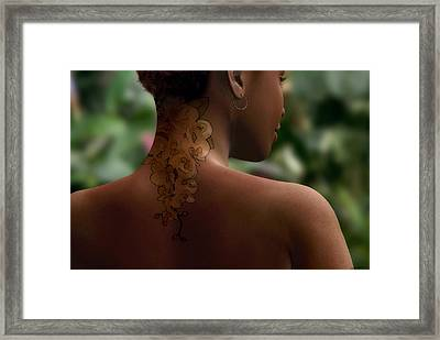 Orchid Tattoo Framed Print