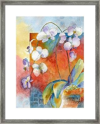 Orchids In Bend Framed Print
