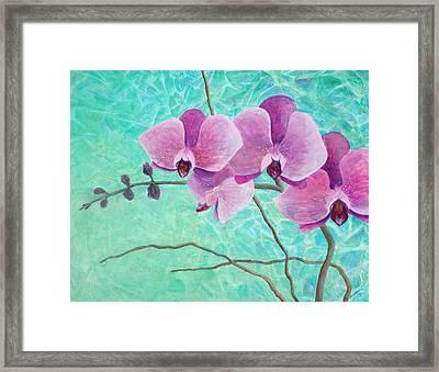 Orchids In Pink Framed Print by Arlissa Vaughn