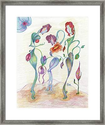 Orchids Framed Print by Mila Ryk