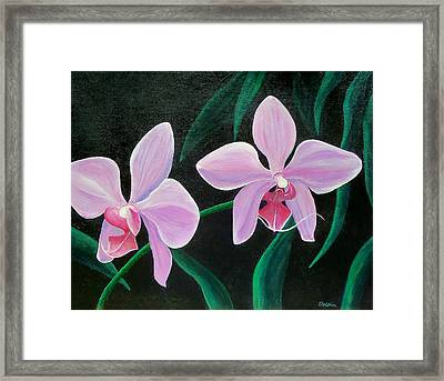 Framed Print featuring the painting Orchids by Susan DeLain