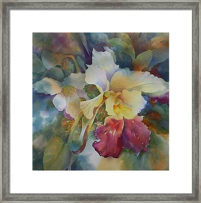 Orchidstrated Framed Print